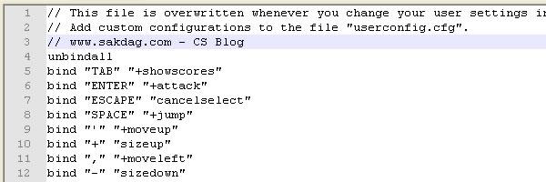 orjinal config CS 1.6 Orjinal Config.cfg indir